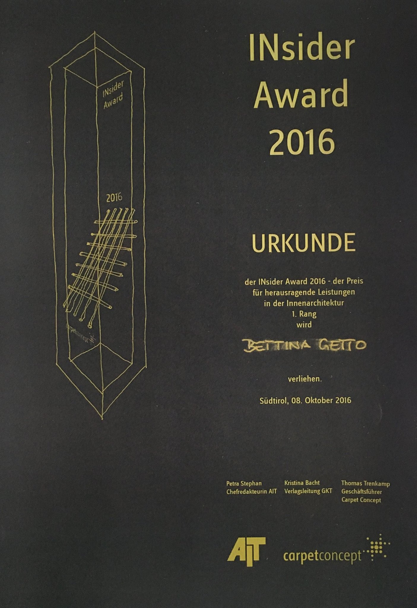 2016 Sieger INsider Award